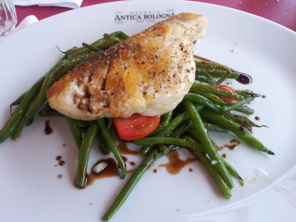 Filetto di merluzzo con fagiolini & Aceto Balsamico