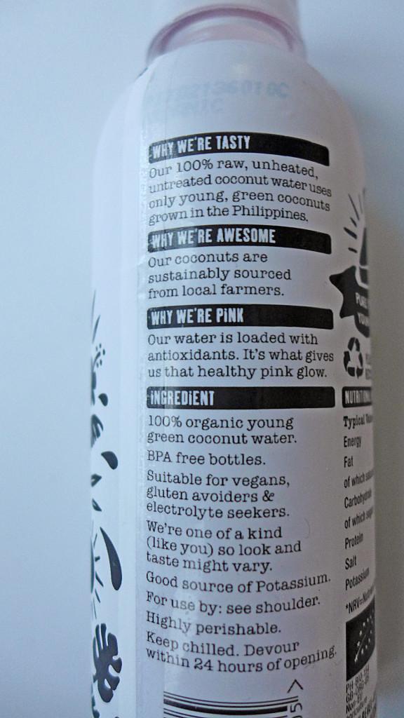 Rebel Kitchen Raw Coconut Water Ingredient List